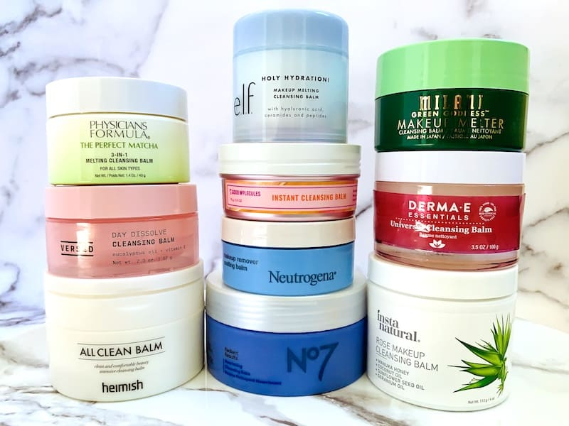 Drugstore Cleansing Balms from Physicians Formula, Versed, Heimish, e.l.f., Good Molecules, Neutrogena, No7, Milani, DermaE and InstaNatural
