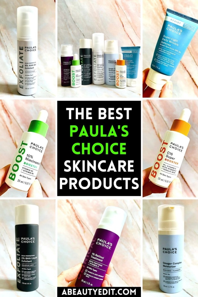The Best Paulas Choice Skincare Products Collage