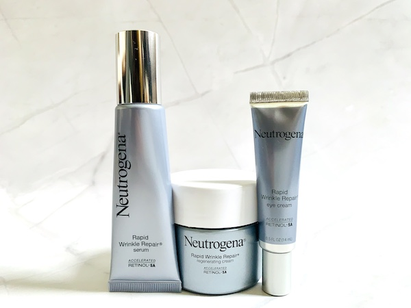 Neutrogena Rapid Wrinkle Repair Serum, Eye Cream and Regenerating Cream