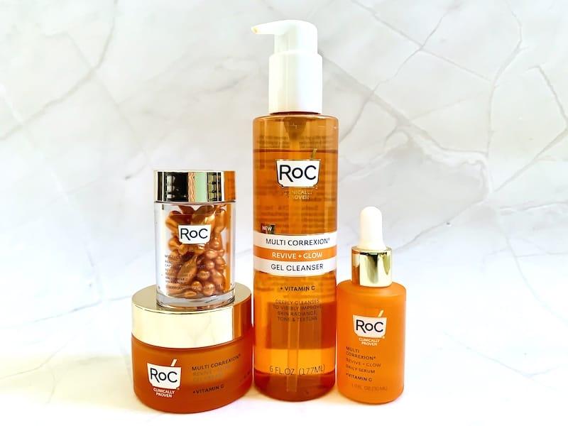 RoC Multi Correxion Vitamin C Serum, Gel Cleanser, Gel Cream and Night Capsules
