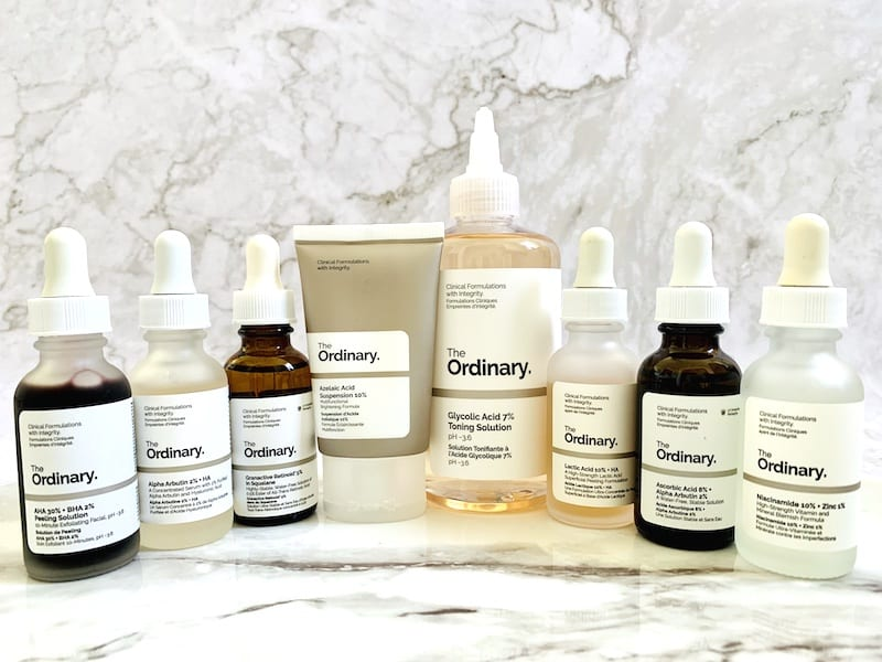 The Ordinary Serums, Toner and Treatments for Acne Scars