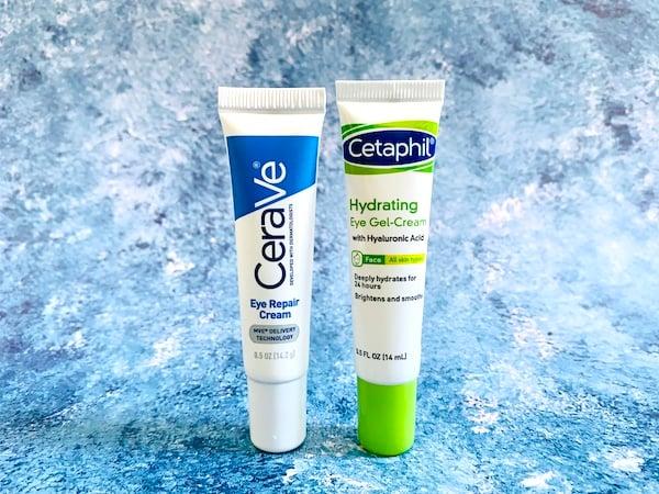 Cerave Eye Repair Cream and Cetaphil Eye Gel-Cream