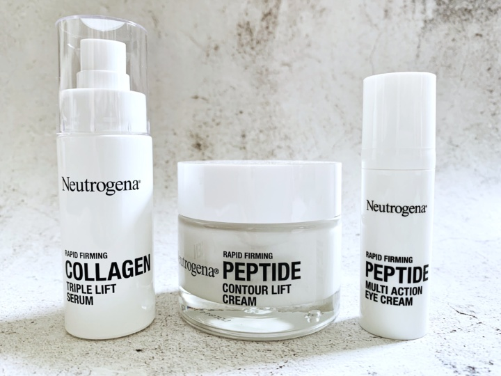 Neutrogena Rapid Firming Collagen Triple Lift Face Serum, Peptide Multi Action Eye Cream and Peptide Contour Lift Face Cream
