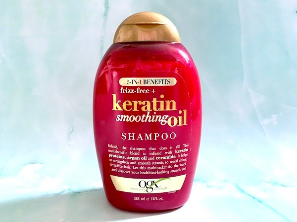 OGX 5-in-1 Benefits Frizz-Free Keratin Smoothing Oil Shampoo