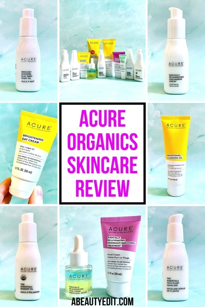 Acure Organics Skincare Review - Product Collage