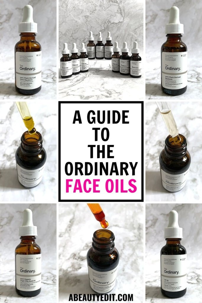 A Guide to The Ordinary Face Oils Collage of Oils