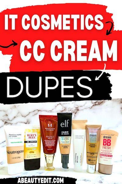 IT Cosmetics CC Cream Dupes