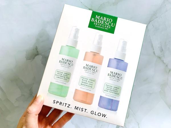 Mario Badescu Spritz. Mist. Glow. Facial Spray Collection Trio: Lavender, Cucumber, Rose - Box