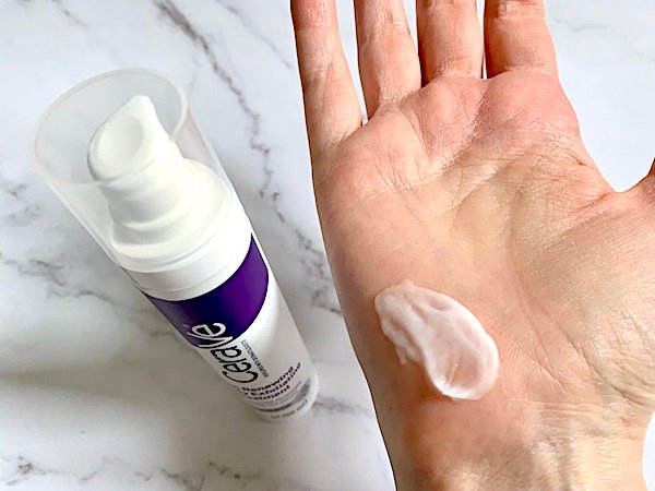 CeraVe Skin Renewing Nightly Exfoliating Treatment Sampled on Hand