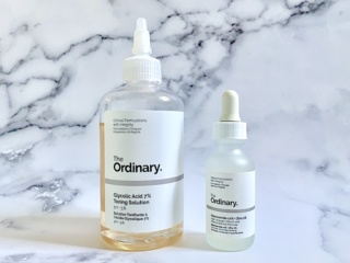 The Ordinary Glycolic Acid 7% Toning Solution and The Ordinary Niacinamide 10% + Zinc 1%